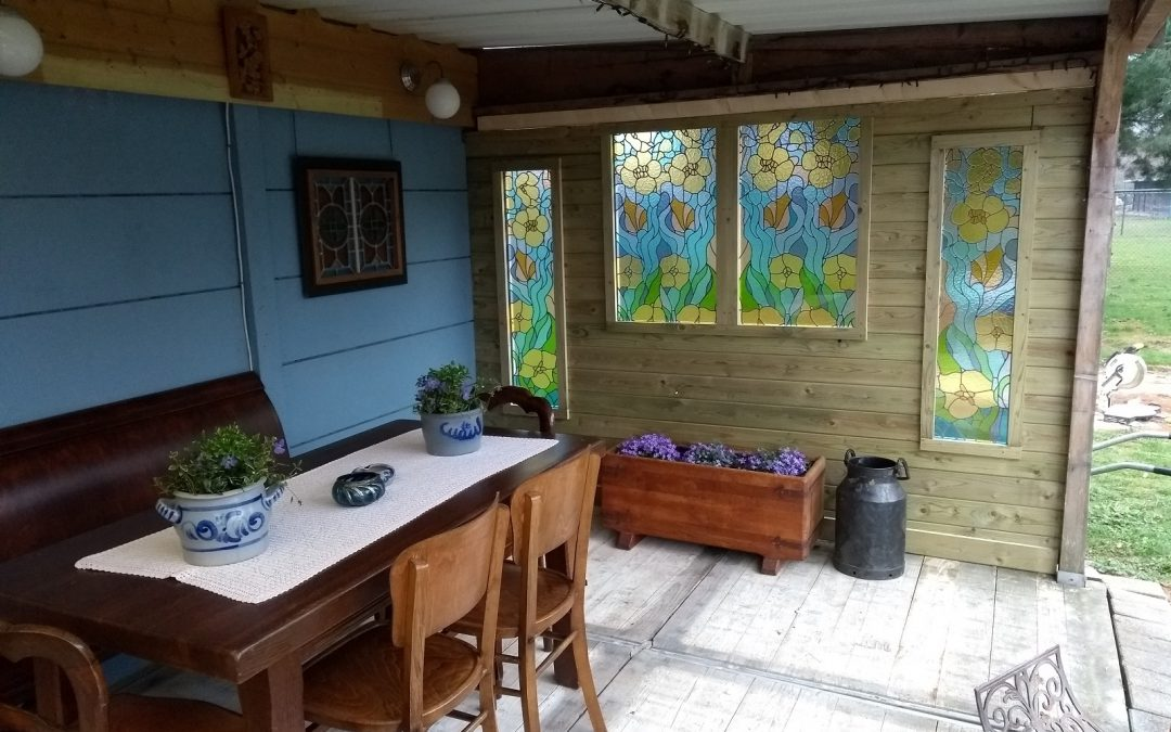 Nieuwe glas in lood ramen
